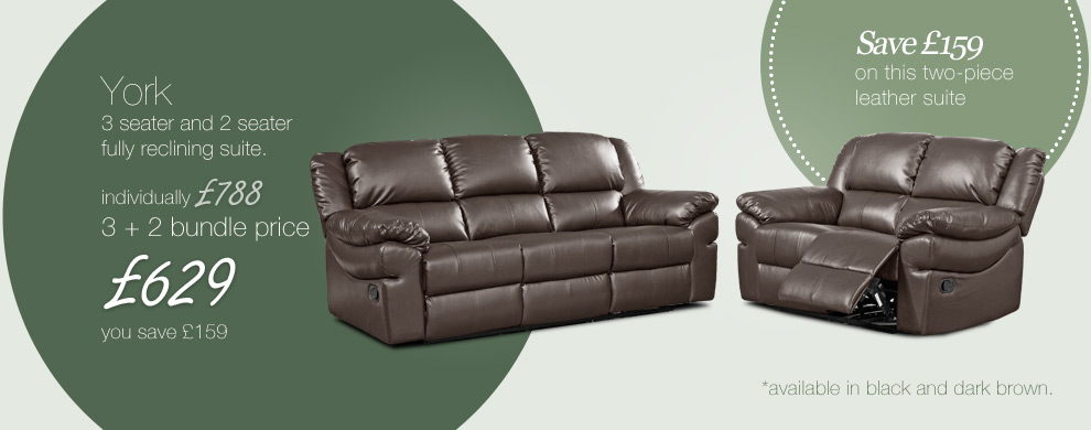 york dark brown leather recliner