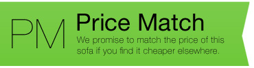 Price match promise available on all sofas