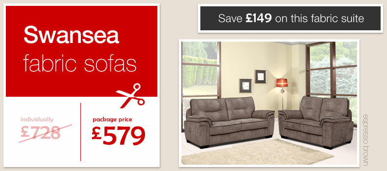 brown fabric sofas swansea chenille 3 and 2 seater settees