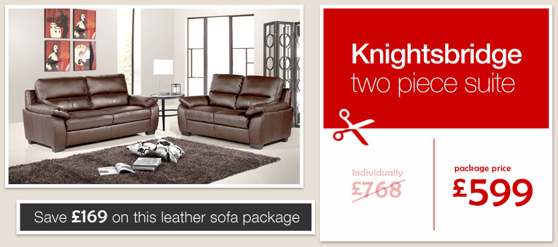 knightsbridge brown leather sofas