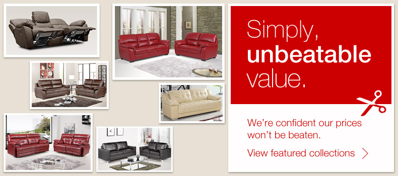 further price custs to be found on selected leather sofas and fabric sofas