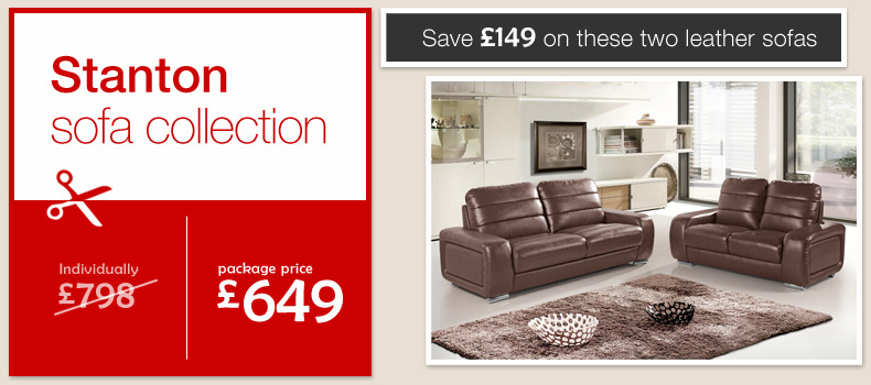 chocolate brown leather sofas Stanton settees