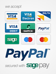 we accept paypal payments and we're verified by visa too